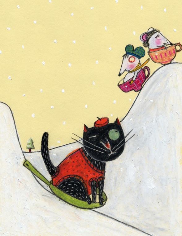 weihnachten auf probe katze